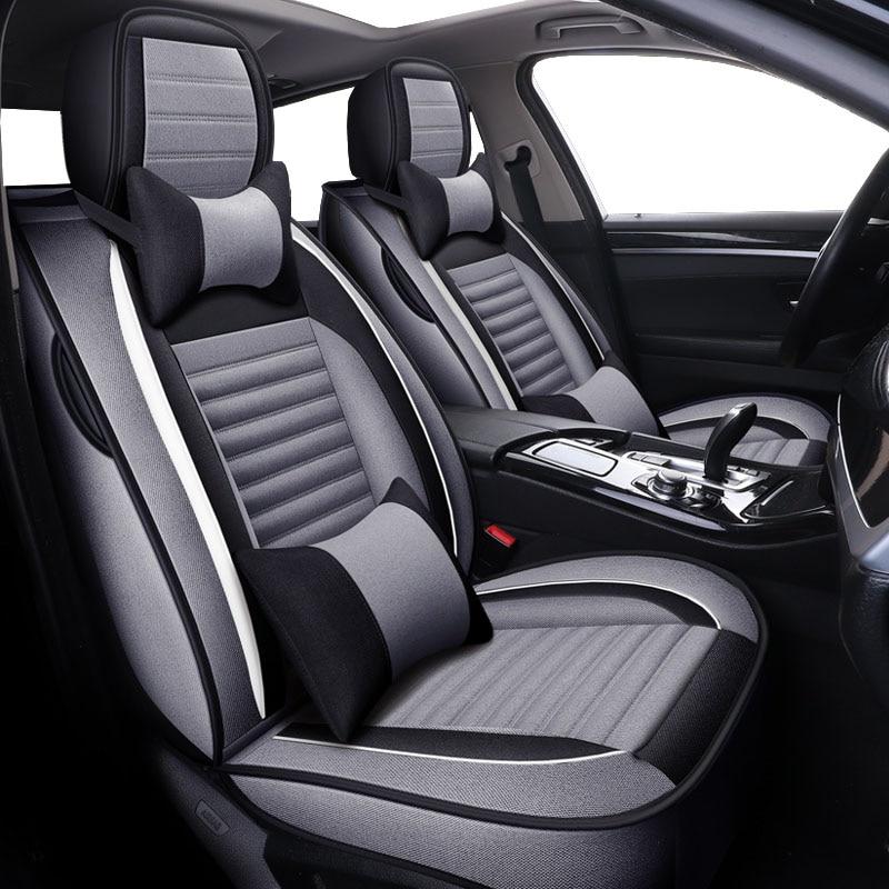 Flax Universal car seat covers For Ford f-150 f-250 f-350 f-450 falcon fiesta mk7 sedan,hummer h2 h3 of 2018 2017 2016 2015