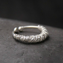Fyla Mode 925 Thai Silver Simple Wiring Expandable Open Ring For Jewelry DIY Can Put Charm Women Men Finger Rings PKY211