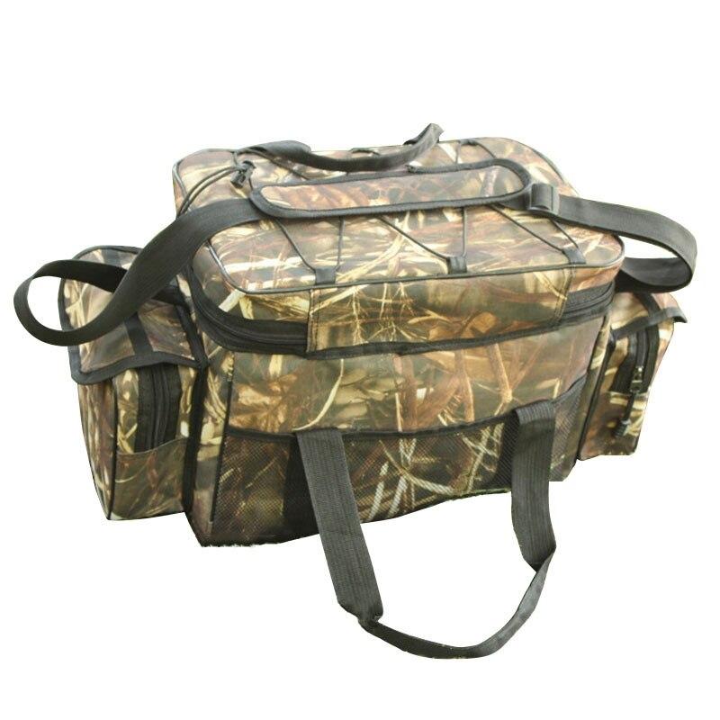 Multifunctional Outdoor Backpack Waterproof Fishing Gear Bag Bait Box Shoulder Strap Pocket Fishing Gear Accessories