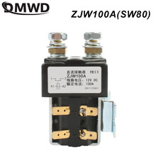 Sw80 12 v 24 v 36 48 v 60 v 72 v 100a nenhum contator zjw100a da c.c. do estilo para o guincho do carro de wehicle da garra do eletromotor da empilhadeira