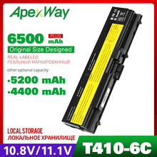 ApexWay 6CELLS Battery For Lenovo ThinkPad  Edge  W510 W520 SL410 L410 L412 L510 L512 L520 42T4733 L420 L421 T410 T420 T510 T520