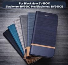 Funda de cuero PU para Blackview BV9900 Pro, carcasa trasera de silicona suave para Blackview BV9900