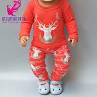 Ropa de muñeca de 18 pulgadas para niños, ropa y pantalones para bebés reborn de 43cm