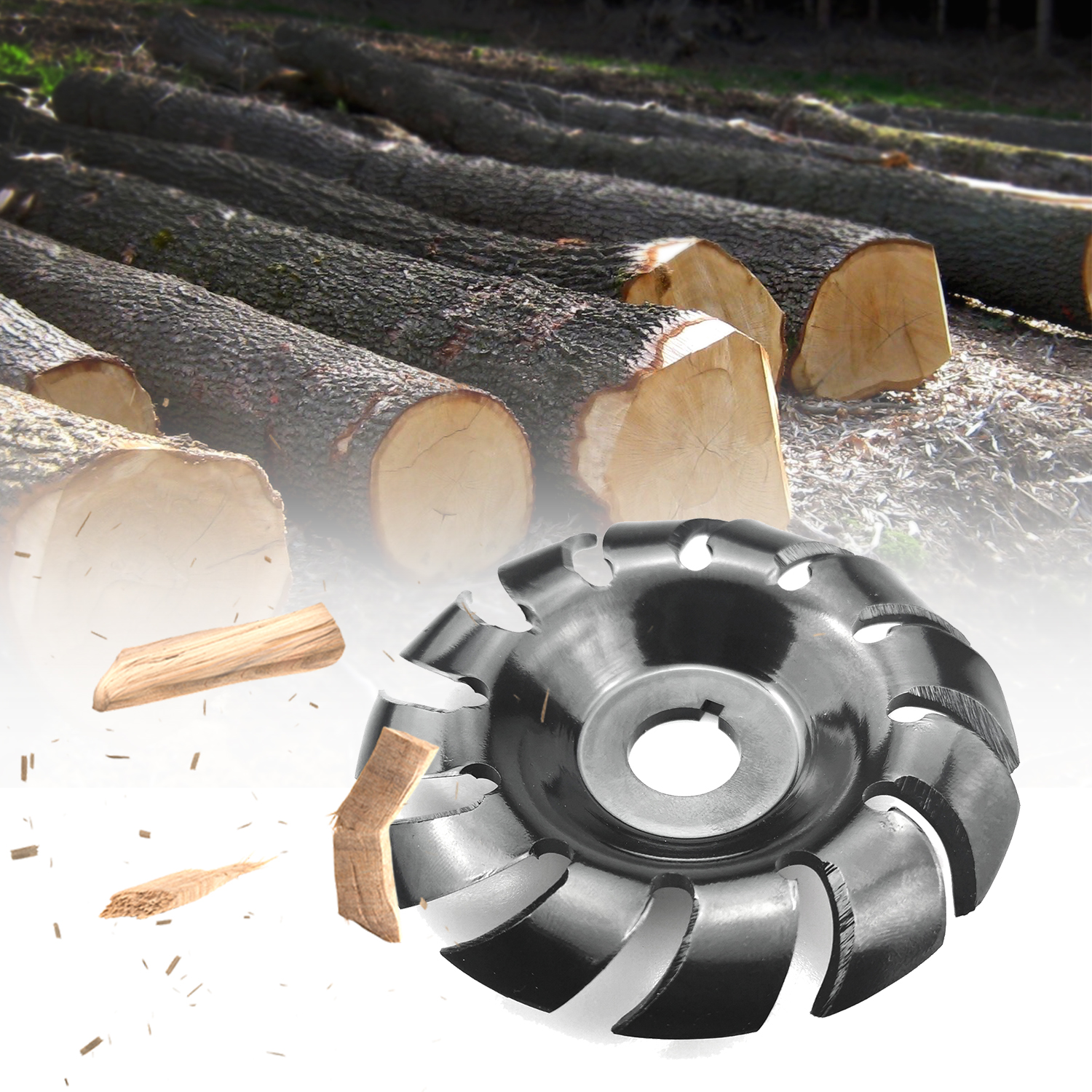 Manganese Steel 90mm 12 Teeth Wood Carving Disc 16mm Bore Grinder Shaping Disc for 100 115 Angle Grinder Woodworking Tools