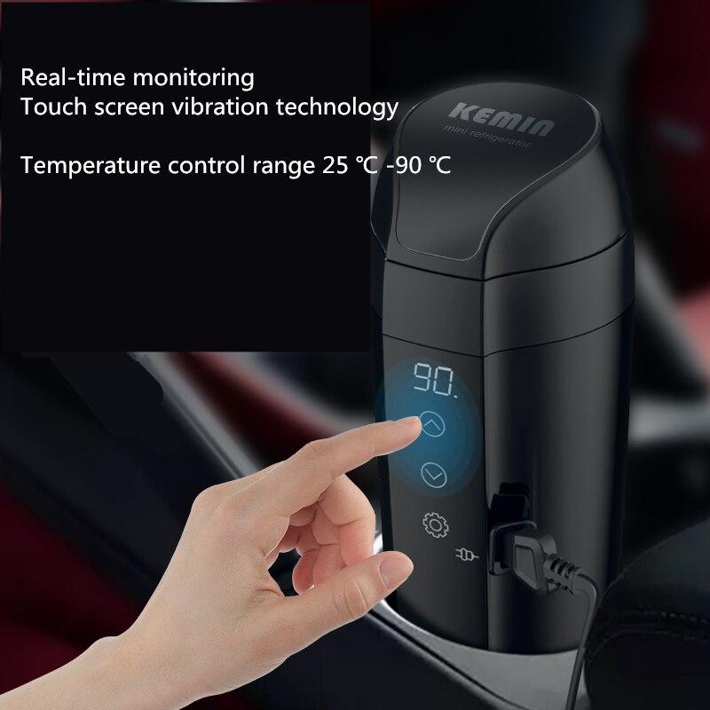 12 v 24 v universal carro de aquecimento água copo elétrico isolamento caneca fervente chaleira café à prova de vazamento portátil viagem casa conveniente - 5