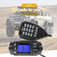 QYT KT 8900D VHF UHF Mobile Radio 2 way radio Quad Display Dual band Mini Car radio 25W Walkie talkie KT8900D
