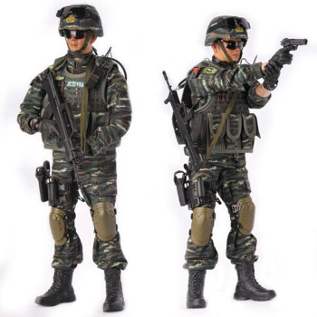 1/6 Scale KADHOBBY Peace mission armed police policeman Corps Military Army soldier Model toy 12' Full Set Action Figure Toy image