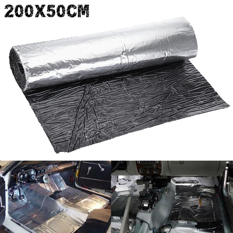 200cmx50cm 5mm-30mm Car Hood Engine Firewall Heat Mat Deadener Sound Noise Proof Insulation Deadening Glass fiber Reinforced Mat