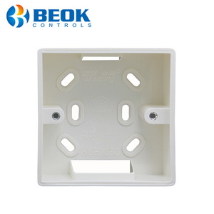 86*86mm Wall Mounted Junction Box for Thermostat White Color Installation Box for BOT-313WIFI Boiler Thermostat(China)