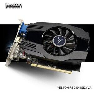 Yeston Radeon R5 240 GPU 4GB GDDR3 64bit Gaming ordinateur de bureau cartes graphiques vidéo prise en charge VGA/DVI-D/HDMI
