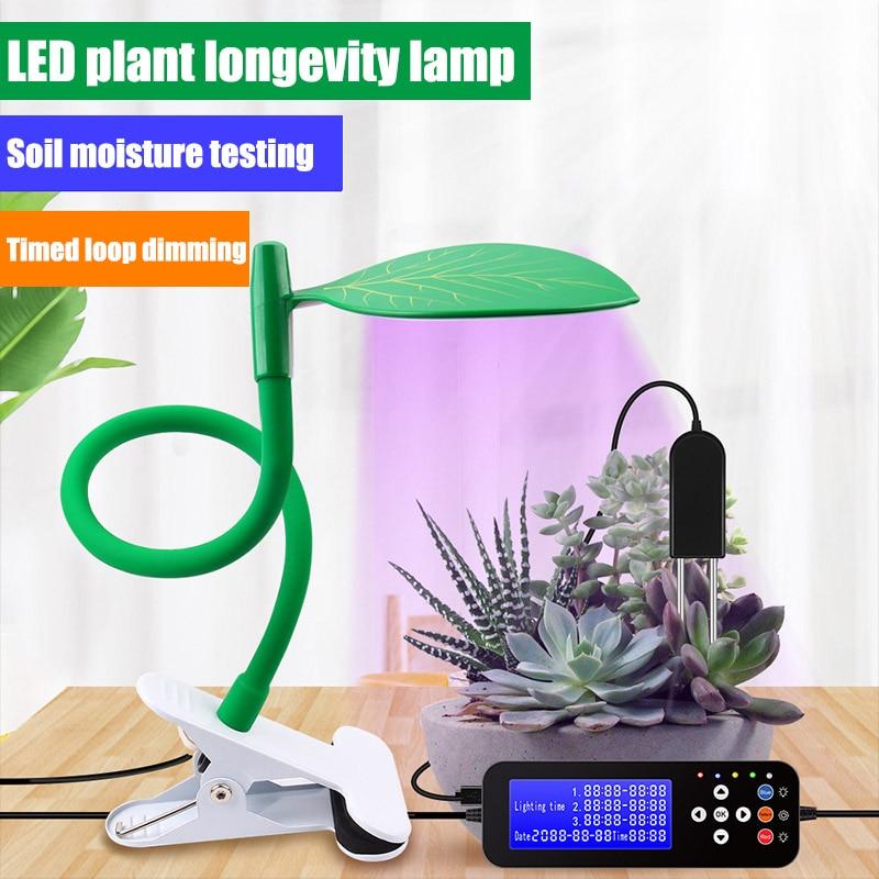 Dual LED Plant Grow Light Bulb USB Timer Full Spectrum Indoor Growing Lamps Box PI669