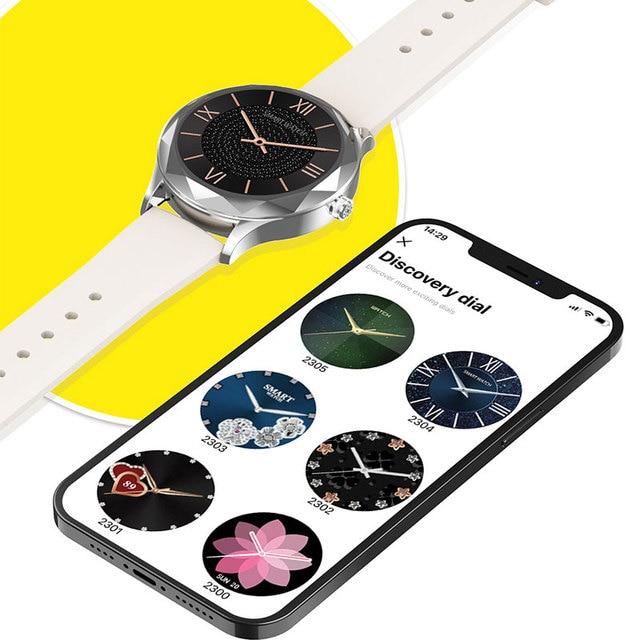 Relógio inteligente feminino adorável pulseira sono freqüência cardíaca monitor de pressão arterial smartwatch senhoras presente relógios masculino para android ios 4