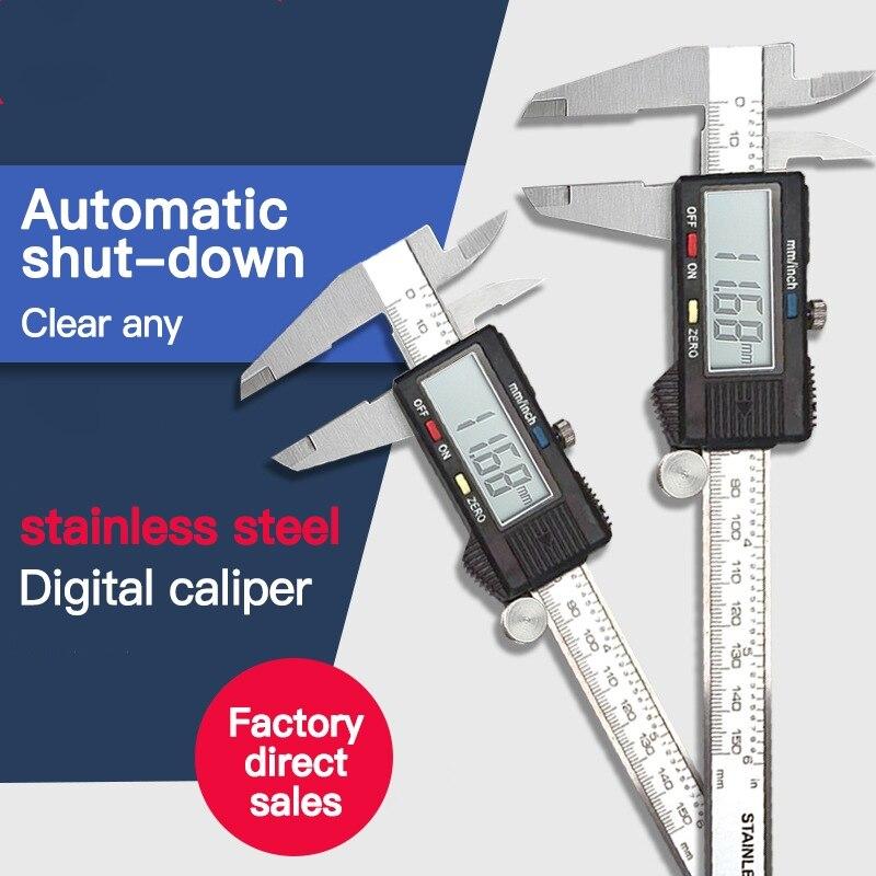 Utoolmart Calibre interior de calibre de 150 mm de rango largo y firme herramienta de medici/ón de metales para medir espesores di/ámetros de agujero 1 unids