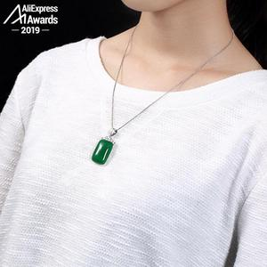 Image 3 - NOT FAKE S925 Fine Antique shop store Pendants Emerald Pendant Luxury Taste Handmade Vintage Natural Chalcedony moldavite perido
