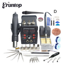 Eruntop – Double affichage numérique 8586D + 8786D, fers à souder électriques + pistolet à Air chaud, meilleure Station de travail SMD améliorée 8586 8786
