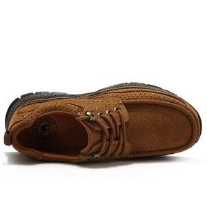 Image 3 - الجمل توسيد حذاء رجالي ماتي جلد طبيعي حذاء كاجوال الراحة مقاومة للاهتراء عدم الانزلاق فرك في الهواء الطلق أحذية من الجلد الرجال