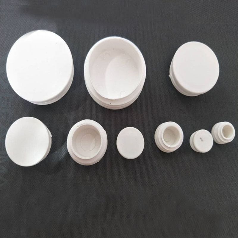 80pcs/lot White Plastic Blanking End Caps Round Pipe Tube Cap Insert Plugs Bung For Furniture Tables Chairs Protector
