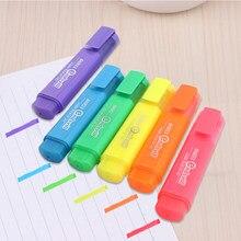 Surligneur MP-460 à Pigment à base d'eau, stylo marqueur 6 couleurs à tête unique, stylo à notes, papeterie fournitures scolaires et de bureau