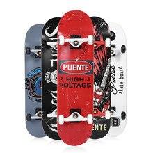 PUENTE-Tabla de Skate ABEC -9 para adultos, patineta de cuatro ruedas, doble Snubby, de arce, deporte, para entretenimiento, monopatín