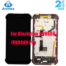 6,21 zoll Für Original BLACKVIEW BV9600 BV9600 Pro AMOLED LCD Display + Touch Screen + Rahmen + Fingerprint Sensor Taste android 9,0