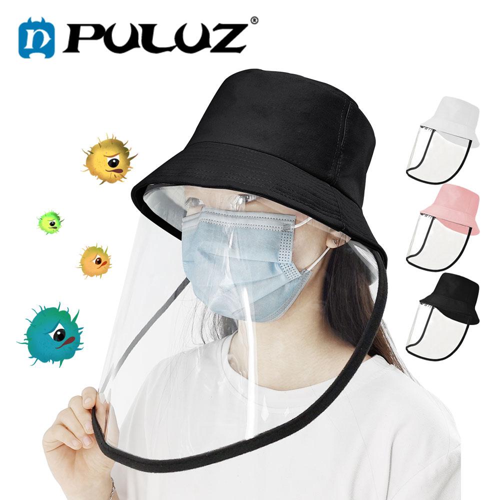 PULUZ Mascarillas Anti Virus Anti Saliva Mascaras Splash Protection Safety Helmet Transparent Collapsible Transparent Hardhat