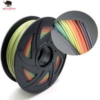 PLA נימה קשת צבע PLA נימה 3D מדפסת צבעוני PLA Spool  1.75mm חוטי 2.2 £ 1KG רול עבור 3D מדפסת-בחומרים להדפסת תלת-ממד מתוך מחשב ומשרד באתר