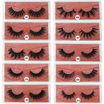 Mink Eyelashes 3D Mink Lashes Thick HandMade Full Strip Lashes Cruelty Free Mink Lashes 13 Style False Eyelashes Makeup Comestic 1