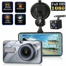 лучшая цена Dual Lens 4 Car DVR 1080P HD Dash Cam Video Recorder Night Vision Camera