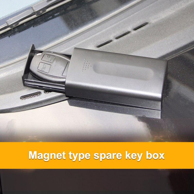 Caja de almacenamiento para coche magn/ética escondida en parte baja