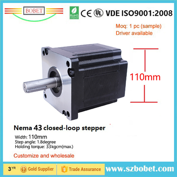 цена на Heavy CNC hybrid stepper motor10NM 20NM 30NM holding torque size 110mm width Nema 43 1.8degree two phase stepper motor