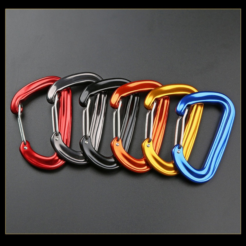 Aviation Aluminum Wire Gate Carabiner Safety Buckle Snap Hook Camping Hammock