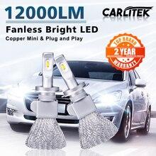 Carlitek LED H7 H4 LED żarówki reflektorów samochodowych lampa samochodowa LED CSP światła miedzi H1 H11 H8 HB3 HB4 lampy przeciwmgielne 9005 9006 dla samochodów 6000K