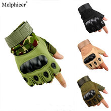 Outdoor Tactical Training Hiking Half Finger Gloves Military Army Shooting Hiking Hunting Climbing Cycling Gym Riding Airsoft(China)