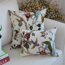 White Magnolia cushion covers Pure cotton cushion cover for Sofa decor red Magnolia for wedding part decor 18
