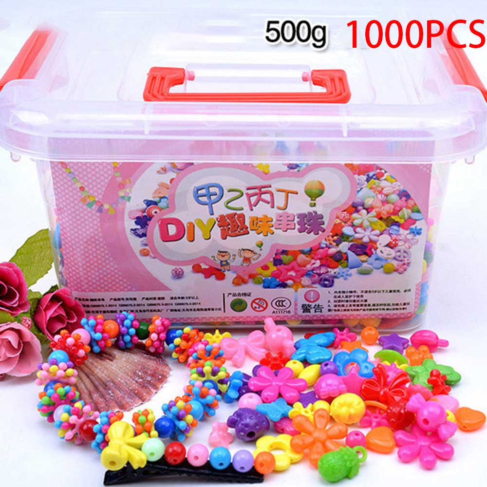 1000Pcs DIY Handmade Beaded Toy With Storage Box Creative Girl Jewelry Bracelet Jewelry Making Toys Children Gift