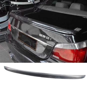 E60 M5 style Carbon Fiber spoiler rear wing For BMW E60 5 Series 545i 525i 520i 530i Sedan car body kit image