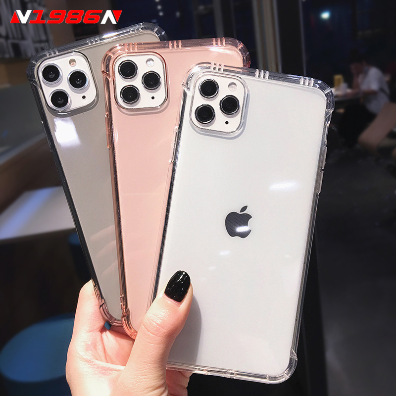 N1986N Phone Case For iPhone 11 Pro X XR XS Max 6 6s 7 8 Plus SE 2020 Fashion Shockproof Clear Soft TPU For iPhone 11 Phone Case