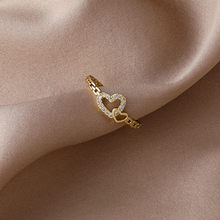 2021 coreano novo temperamento requintado doce amor anel moda simples versátil anel feminino jóias