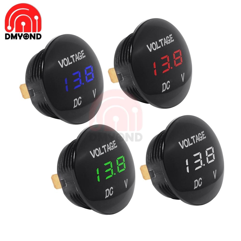 Waterproof DC 5V-48V Car Motorcycle LED Panel Digital Volt Voltage Meter Display Voltmeter 12V 24V 36V