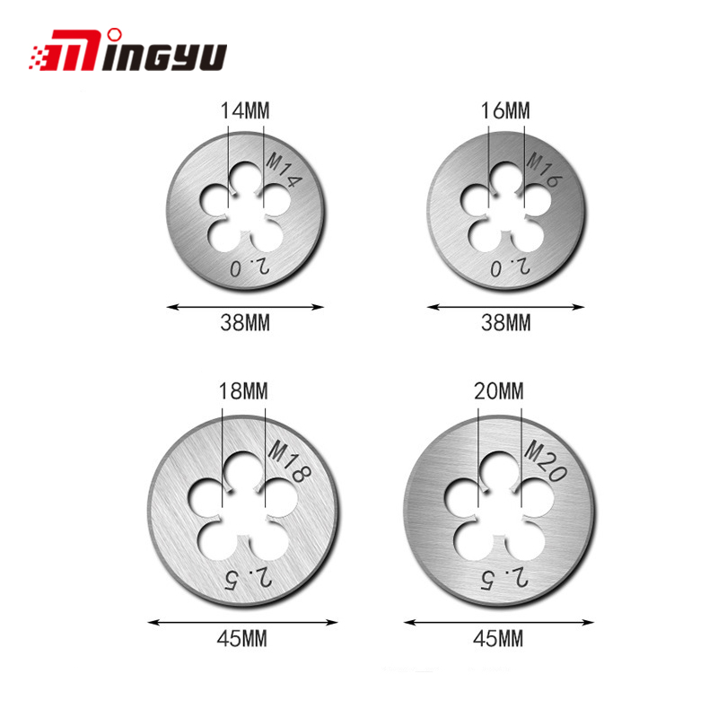 1PC M1 M1.1 M1.2 M1.4 M1.6 M1.8 M2 M2.2 M2.5 Metric Threading Screw Die Super Mini Size Thread Tools  For Hand Tools
