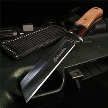 6 3 #8222 #8221 cali nóż myśliwski nóż ze stali nierdzewnej z drewnianą rączką Camping przenośny nóż bojowy narzędzia do pracy na zewnątrz tanie tanio Doom Blade Maszyny do obróbki drewna CN (pochodzenie) WOOD STAINLESS STEEL 8CR13MOV Fixed blade knife