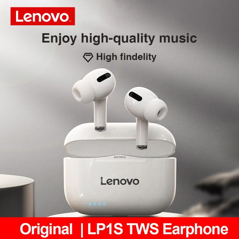 Новинка 2020, TWS наушники Lenovo LP1S с Bluetooth, Спортивная беспроводная гарнитура, стереонаушники, HiFi музыка с микрофоном для Android IOS