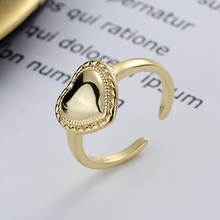 Romantic Love Heart Ring 925 Sterling Silver Personality Open Ring Western Europe 18k Gold Ring For Women Elegant Fine Jewelry shipei created moissanite heart ring for women fine jewelry 100% 925 sterling silver love heart ring anniversary valentines gift