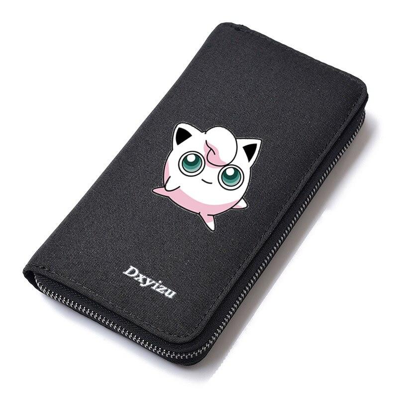 Men Cartoon Pocket Monster Wallets Pokemon Male Purse Zipper Long Wallet Clutch Handy Bags Carteiras Billeteras