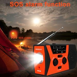Image 4 - RETEKESS HR12W FM AM NOAA SOS Portable Emergency Radio Waterproof LED Lighting Hand Crank Solar Radio Receiver For Camping