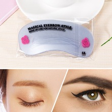 24 Pcs Reusable Eyebrow Stencil Set DIY Eye Brow D