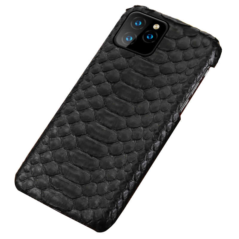 Echt Leer case Voor iphone 11 pro max Originele Python lederen back cover Voor iphone 11 Pro case xr xs max 7 8 coque fundas