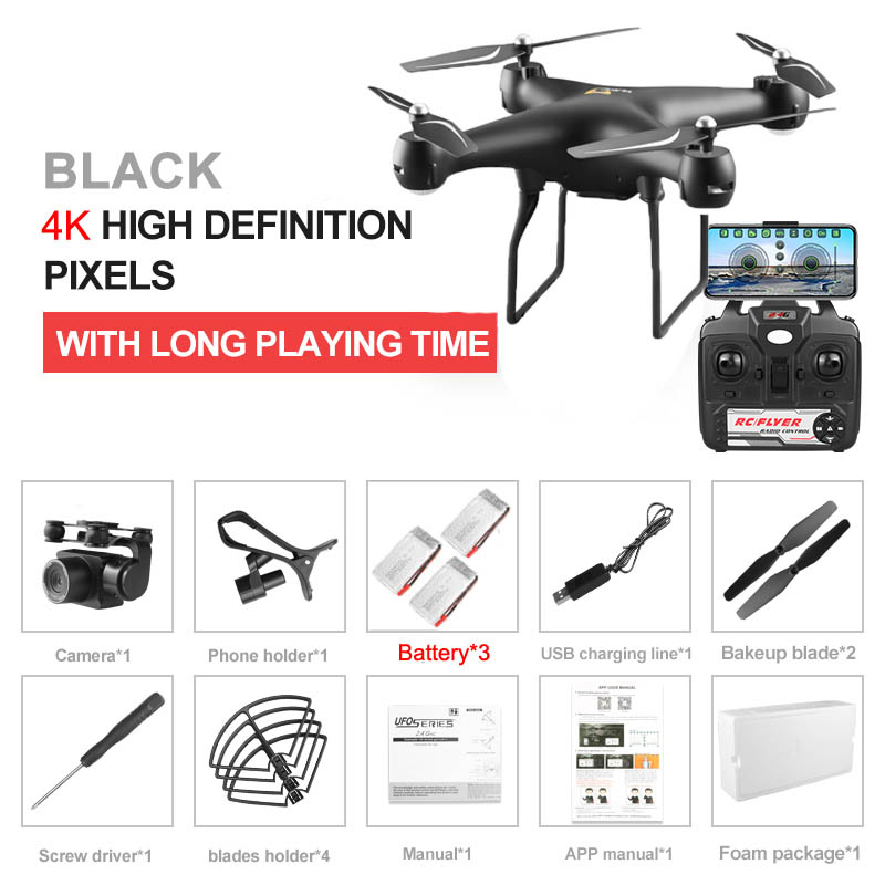 S32T Professional Drone with Rotating ESC Camera 4K HD WiFi FPV Altitude Hold Wide Angle RC Quadcopter Helicopter Toy VS XY4 E58
