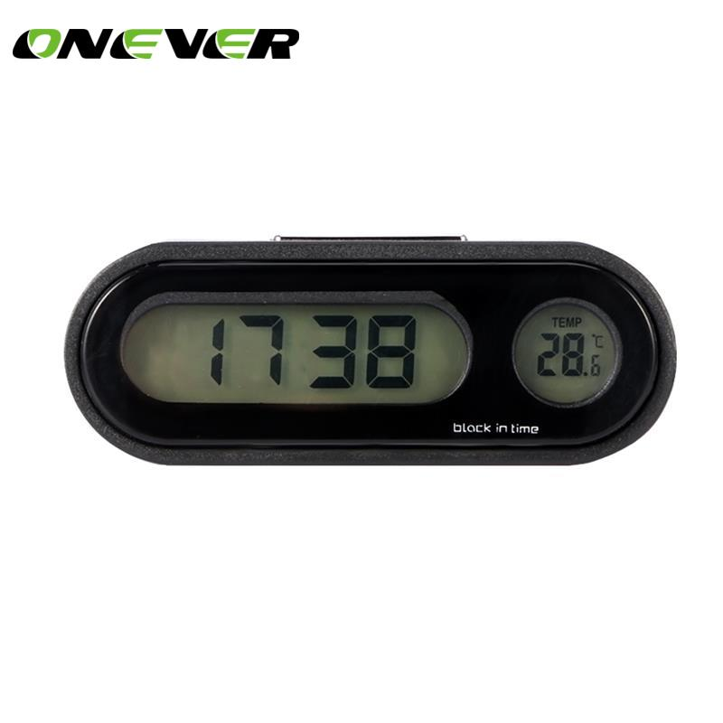 Mini Car Automobile Digital Clock Auto Watch Automotive Thermometer Hygrometer Decoration Ornament Clock In Car Car-Styling