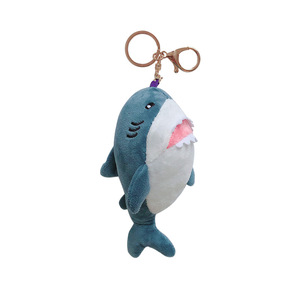 Kreatywny piękny niebieski rekin brelok pluszowy wisiorek mała lalka torba klucz łańcuszek wisiorek samochód aktywność prezent kobieta brelok